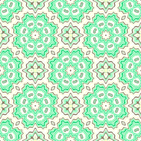 Roslyn mint- fabric by kerryn on Spoonflower - custom fabric