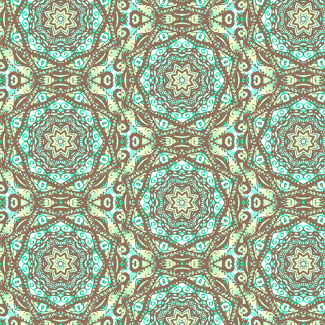 spinning-MINT fabric by kerryn on Spoonflower - custom fabric