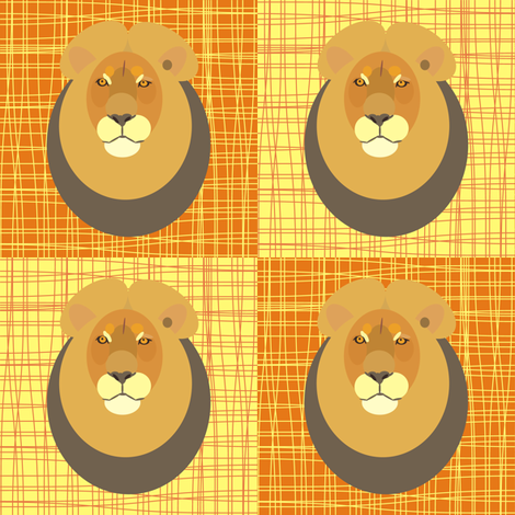 Desert Lion fabric by smuk on Spoonflower - custom fabric