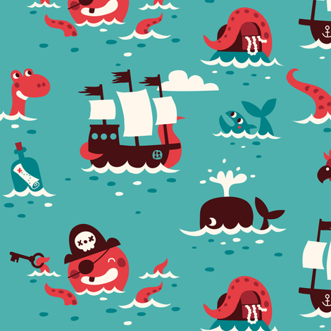 piratesdesign fabric by bora on Spoonflower - custom fabric