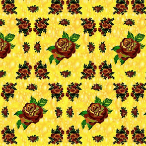 Cabbage Roses (Yellow)