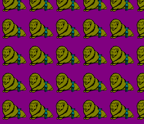 Larry and Leo colours fabric by frannyanny on Spoonflower - custom fabric