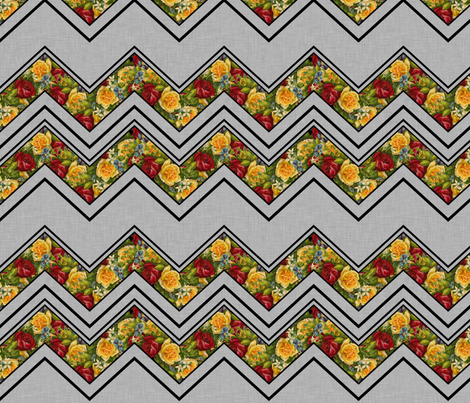 Gothic Valentine Chevron large fabric by glanoramay on Spoonflower - custom fabric