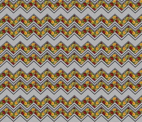 Gothic Valentine Chevron small fabric by glanoramay on Spoonflower - custom fabric