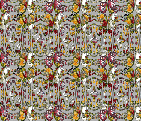 Gothic Valentine Ikat fabric by glanoramay on Spoonflower - custom fabric