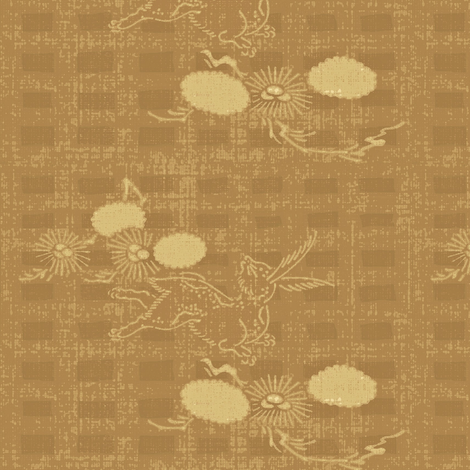 woodland hare - light brown/cream  fabric by materialsgirl on Spoonflower - custom fabric