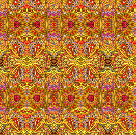 Box That Sunshine and Tie it With a Bow (a bright abstract) fabric by edsel2084 on Spoonflower - custom fabric