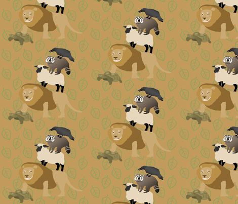 animal_tower fabric by roxiespeople on Spoonflower - custom fabric