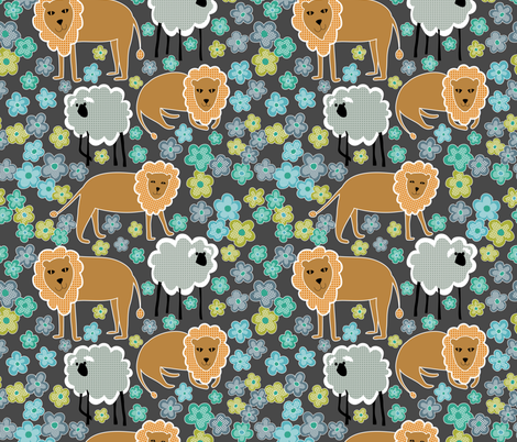 lejonlamm_gray_jpg-01 fabric by vo_aka_virginiao on Spoonflower - custom fabric