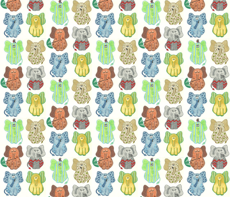 Ears of Elephants fabric by kbexquisites on Spoonflower - custom fabric