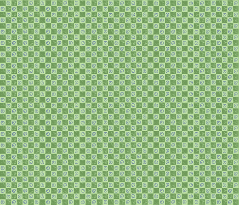 checkerboardandswirlsgreenpurple fabric by alyson_chase on Spoonflower - custom fabric