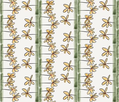Flores no jardim fabric by ana_somaglia on Spoonflower - custom fabric