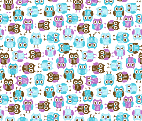 jb_sasparilla_owls_1 fabric by juneblossom on Spoonflower - custom fabric