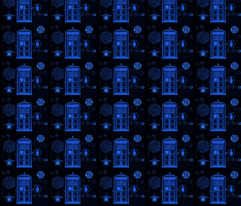 Tardis fabric by plumcuckoo on Spoonflower - custom fabric