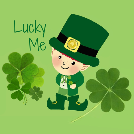 Lucky Me / Leprechaun  fabric by paragonstudios on Spoonflower - custom fabric