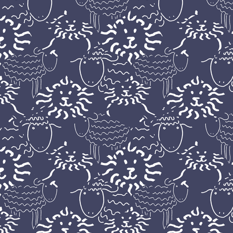 Lamb and Lion fabric by kdl on Spoonflower - custom fabric