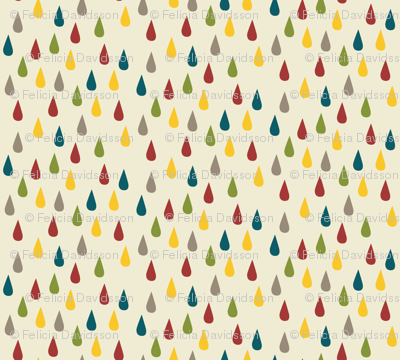 Raindrops dots