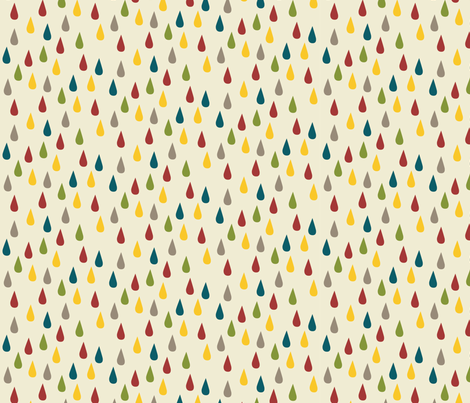 Raindrops dots fabric by feliciadavidsson on Spoonflower - custom fabric