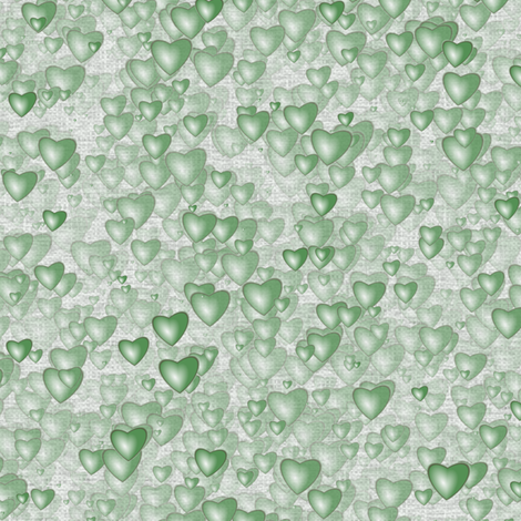 Sea Of Hearts - Full - Green fabric by bonnie_phantasm on Spoonflower - custom fabric