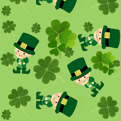Lucky Me / Shamrock fabric by paragonstudios on Spoonflower - custom fabric