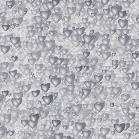 Sea Of Hearts - Full - Grey fabric by bonnie_phantasm on Spoonflower - custom fabric