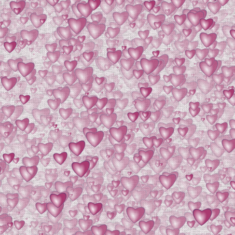 Sea Of Hearts - Full - Pink fabric by bonnie_phantasm on Spoonflower - custom fabric