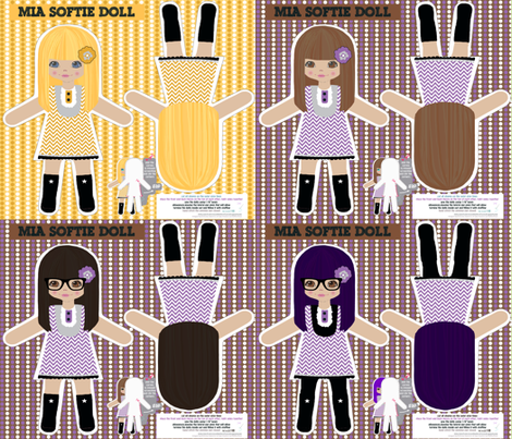 Mia softie doll fabric by katarina on Spoonflower - custom fabric