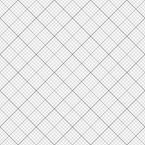 diagonal graph : grey fabric by sef on Spoonflower - custom fabric