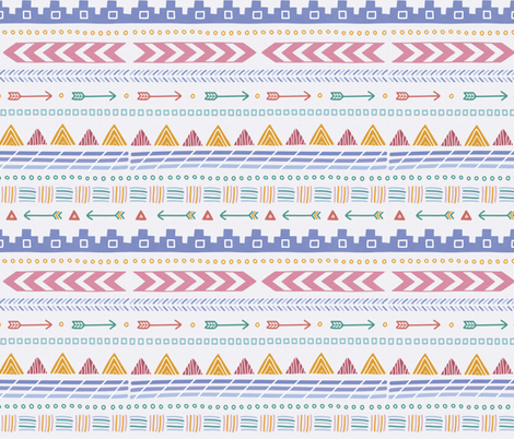 Aztec Pattern fabric by joannehawker on Spoonflower - custom fabric