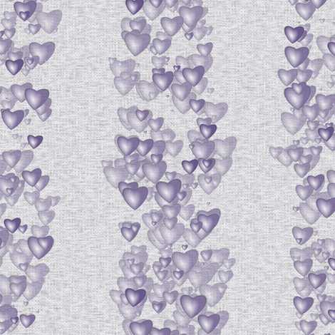 Sea Of Hearts - Stripes - Lavender fabric by bonnie_phantasm on Spoonflower - custom fabric