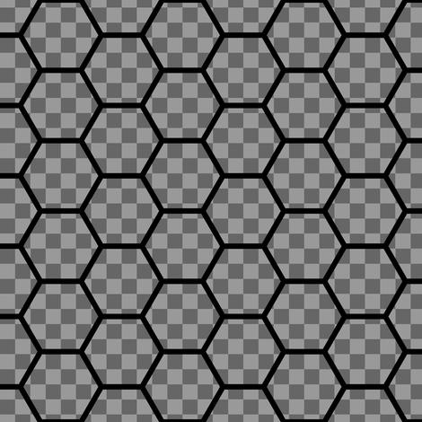 hexes vs checks fabric by sef on Spoonflower - custom fabric