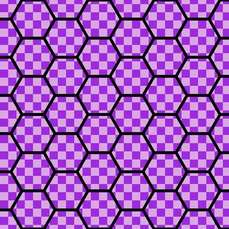 hexes vs checks fabric by sef on Spoonflower - custom fabric