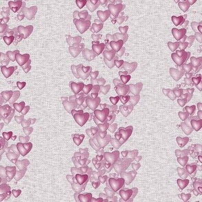 Sea Of Hearts - Stripes - Pink