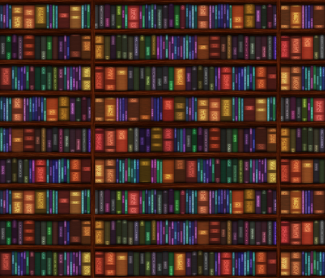 Old Bookshelves fabric by bonnie_phantasm on Spoonflower - custom fabric