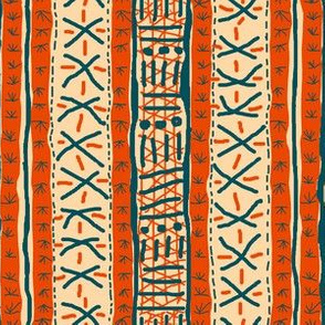 Mudcloth Inspired - orange