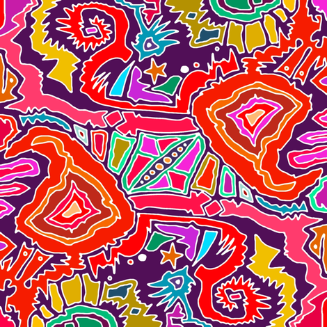ikat doodle bold fabric by scrummy on Spoonflower - custom fabric