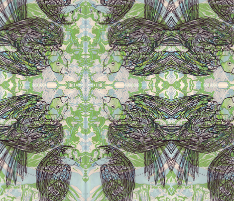 parrot fabric by maryo on Spoonflower - custom fabric