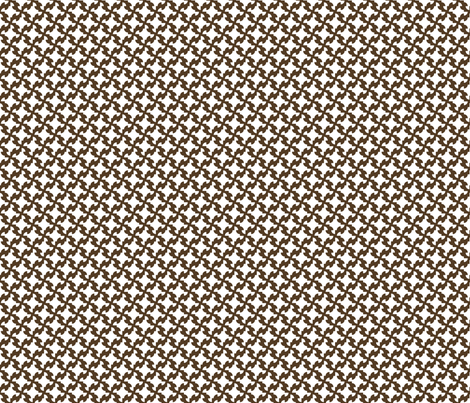 Brown & White Houndstooth fabric by nola_original on Spoonflower - custom fabric