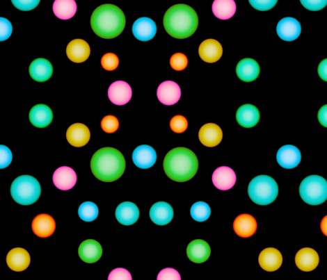Colorful Orbs on Black