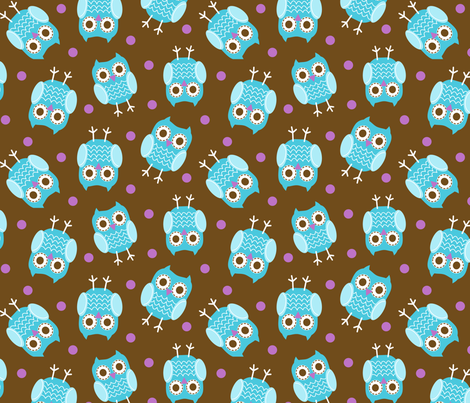 jb_sasparilla_owls_2 fabric by juneblossom on Spoonflower - custom fabric