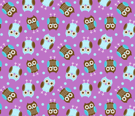 jb_sasparilla_owls_3 fabric by juneblossom on Spoonflower - custom fabric