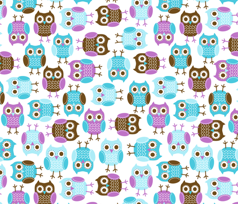 jb_sasparilla_owls_large1 fabric by juneblossom on Spoonflower - custom fabric