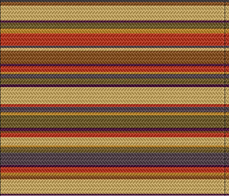 4th Doctor Scarf fabric fabric by jennofalltrades on Spoonflower - custom fabric