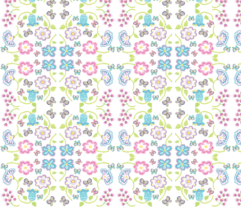 flores_pastel fabric by maribel on Spoonflower - custom fabric