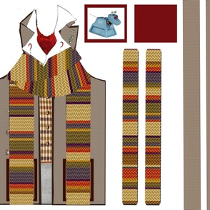 4th Doctor Apron & Pot Holder Set 2