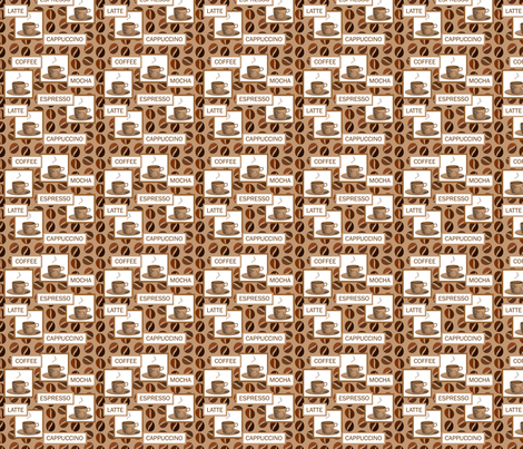 coffee 2 fabric by krs_expressions on Spoonflower - custom fabric