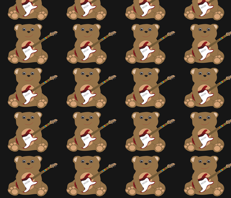 Teddy Rocker Hero fabric by emewy76 on Spoonflower - custom fabric