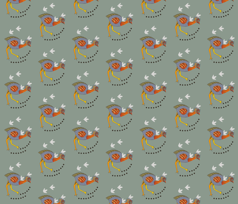 Emu on the plains - tiny. fabric by wiccked on Spoonflower - custom fabric