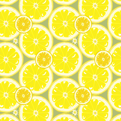Oranges and Lemons fabric by bippidiiboppidii on Spoonflower - custom fabric