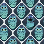 One owl is not like the others - blue